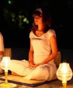 Maggie Nazer meditating