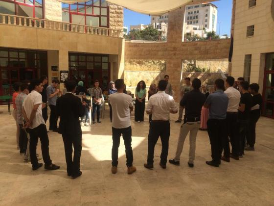 Closing of training and English classes led by Maggie Nazer at Hebron YDRC, Palestine