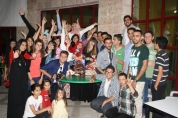 Celebrating my bday with my students and friends in Hebron, Palestine